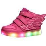 Gaorui Kinder Jungen Mädchen Bunte LED leuchtet Sportschuhe Sneakers athletische Schuhe mit Flügel mit USB - 1