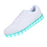 SAGUARO 7 Farbe USB Aufladen LED Leuchtend Sport Schuhe Sportschuhe Sneaker Turnschuhe für Unisex-Erwachsene Herren Damen Size 37 - 1
