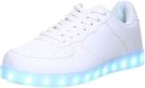 Schuhe-Trentasette Damen Herren LED Licht Farbwechsel Sneaker weiß, Größe:38;Farbe:Weiß - 1