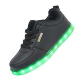 Schwarz 7 Farbe Unisex LED-Beleuchtung Blink USB-Lade Turnschuh-Schuhe für Abschlussball-Partei Weihnachten mit CE-Zertifikat (45) - 1